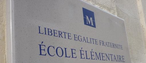 Devant une école élémentaire de Montpellier (photo archive : J.-O. T.)