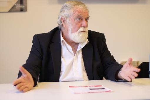 François Liberti, vice-président (PCF) du conseil départemental de l'Hérault le 10 septembre 2013 (photo : J.-O. T.)