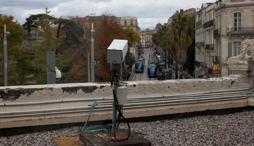 Une caméra de vidéosurveillance à Montpellier (photo archive : J.-O. T.)