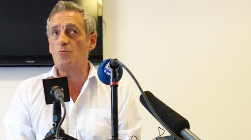 Philippe Saurel lors de l'annonce de sa candidature aux élections régionales de 2015 le 29 juin 2015 (photo : J.-O. T.)