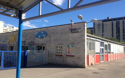 L'école maternelle Cerventes de Montpellier le 18 septembre 2015 (photo : Lucie Lecherbonnier)