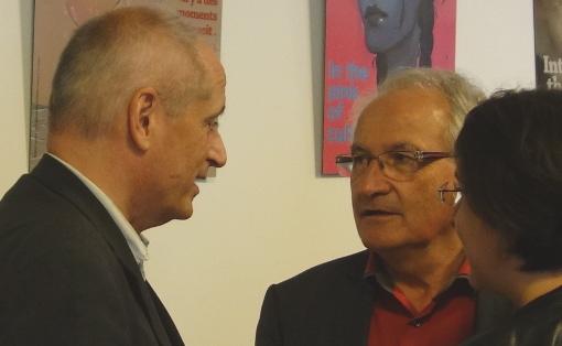Gérard Onesta (EELV) et René Revol (Parti de gauche) le 5 octobre 2015 à Montpellier (photo : J.-O. T.)
