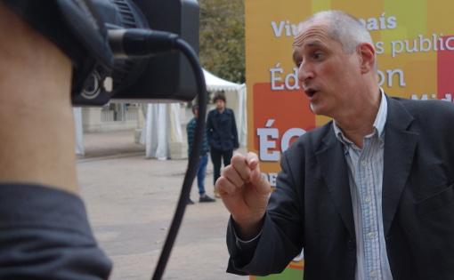 Gérard Onesta, tête de liste EELV-Front de gauche aux régionales de 2015 le 5 octobre 2015 (photo : J.-O. T.)