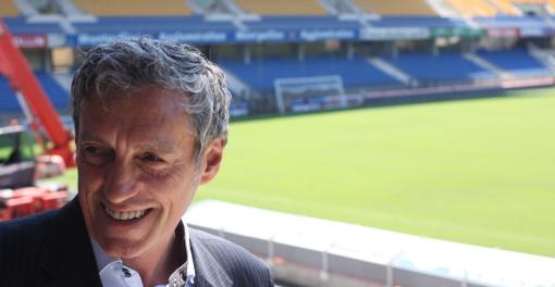 Philippe Saurel, président (divers droite) de la métropole de Montpellier au stade de la Mosson le 19 juin 2014 (photo : J.-O. T.)