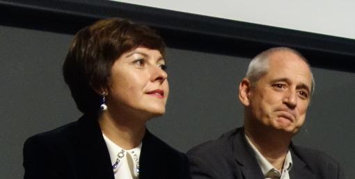 Carole Delga et Gérard Onesta le 10 décembre 2015 à Montpellier (photo : J.-O. T.)