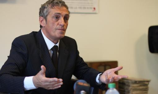 Philippe Saurel, candidat (divers droite) aux élections régionales de 2015 le 23 avril 2014 (photo : J.-O. T.)