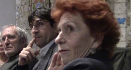 Guy Ciblac, Eric Bascou (maire de Teyran) et Françoise Wilder lors de la rencontre citoyenne du l'association Sud Babote du 25 novembre 2015 (photo : Lucie Lecherbonnier)