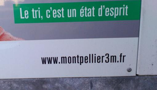 Sur un container de tri de la métropole de Montpellier (photo : J.-O. T.)