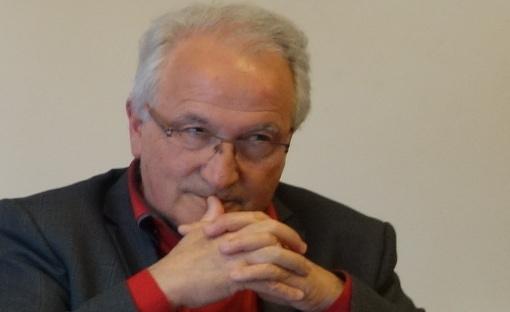 René Revol, maire (Parti de gauche) de Grabels, le 25 mars 2015 (photo : J.-O. T.)