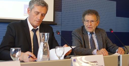 Philippe Saurel et Max Lévita le 1er février 2016 (photo : J.-O. T.)