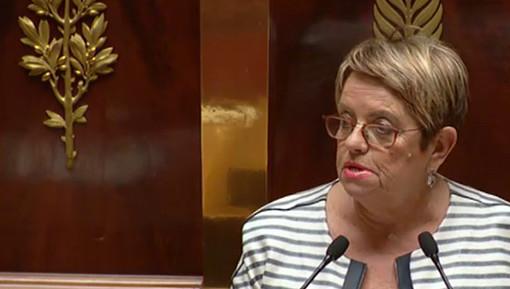Monique Iborra, députée PS de Haute-Garonne, alliée de Philippe Saurel, maire (divers droite) de Montpellier (photo : extrait de la vidéo de l'Assemblée nationale)