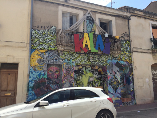 Le squat Le Kalaj à Montpellier, le 8 juillet 2016 (photo : Lucie Lecherbonnier)